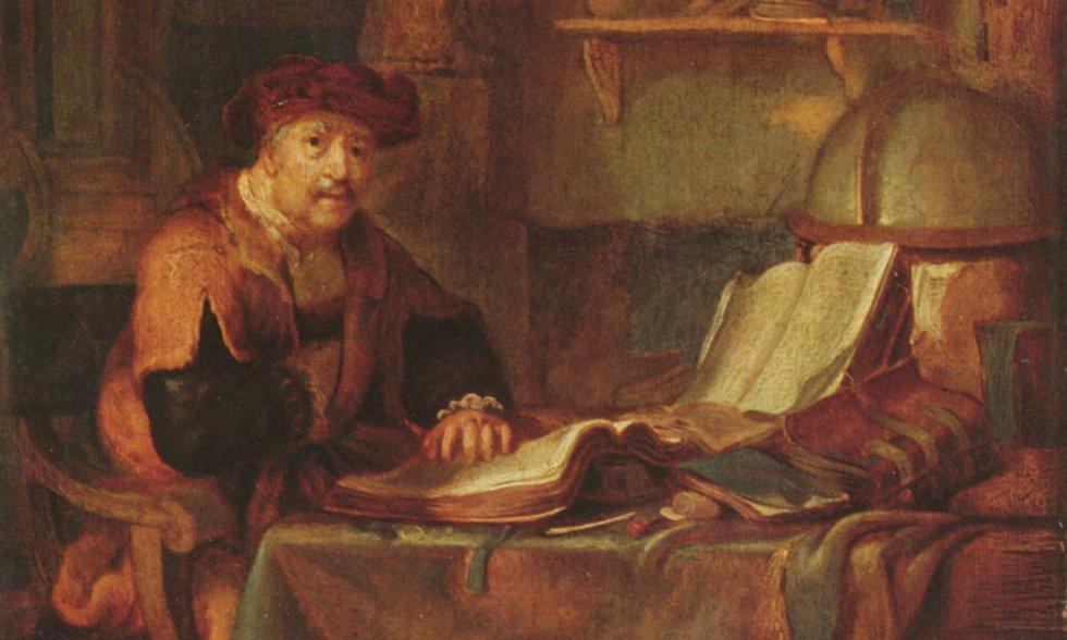 Gerbrand van den Eeckhout, Scholar with his Books