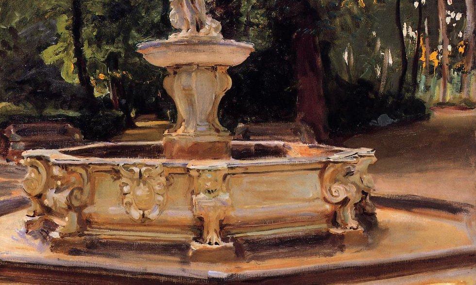 A Marble Fountain at Aranjuez, Spain