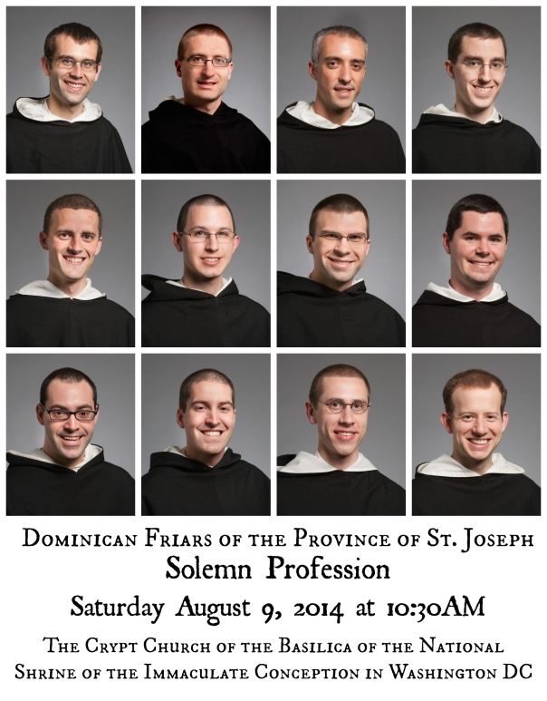 Class of Solemn Vows 2014