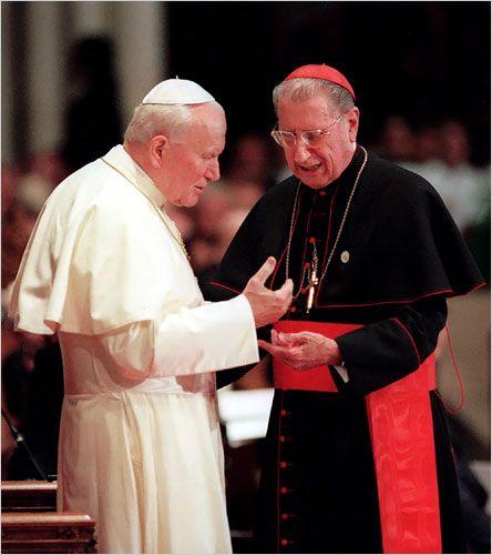 Cardinal O'Connor meets JPII